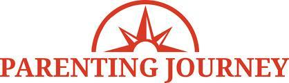 Parenting journey logo, with star burst and a semicircle