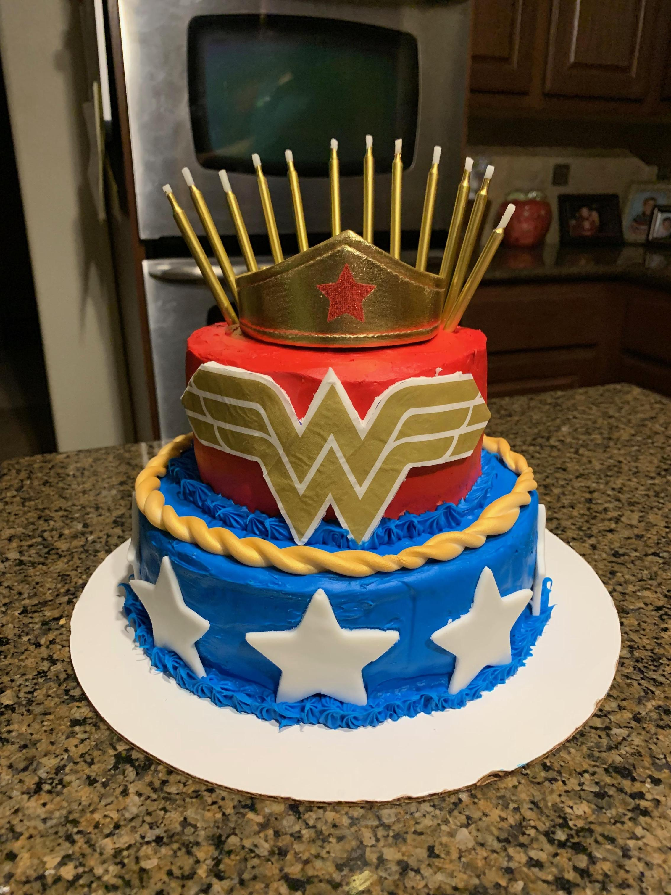 Loved my Wonder Woman birthday cake!  Mr. Apfel sure knows how to make us feel special with his birthday cake creations!