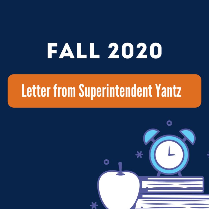 Letter from Superintendent Geoff Yantz Featured Photo