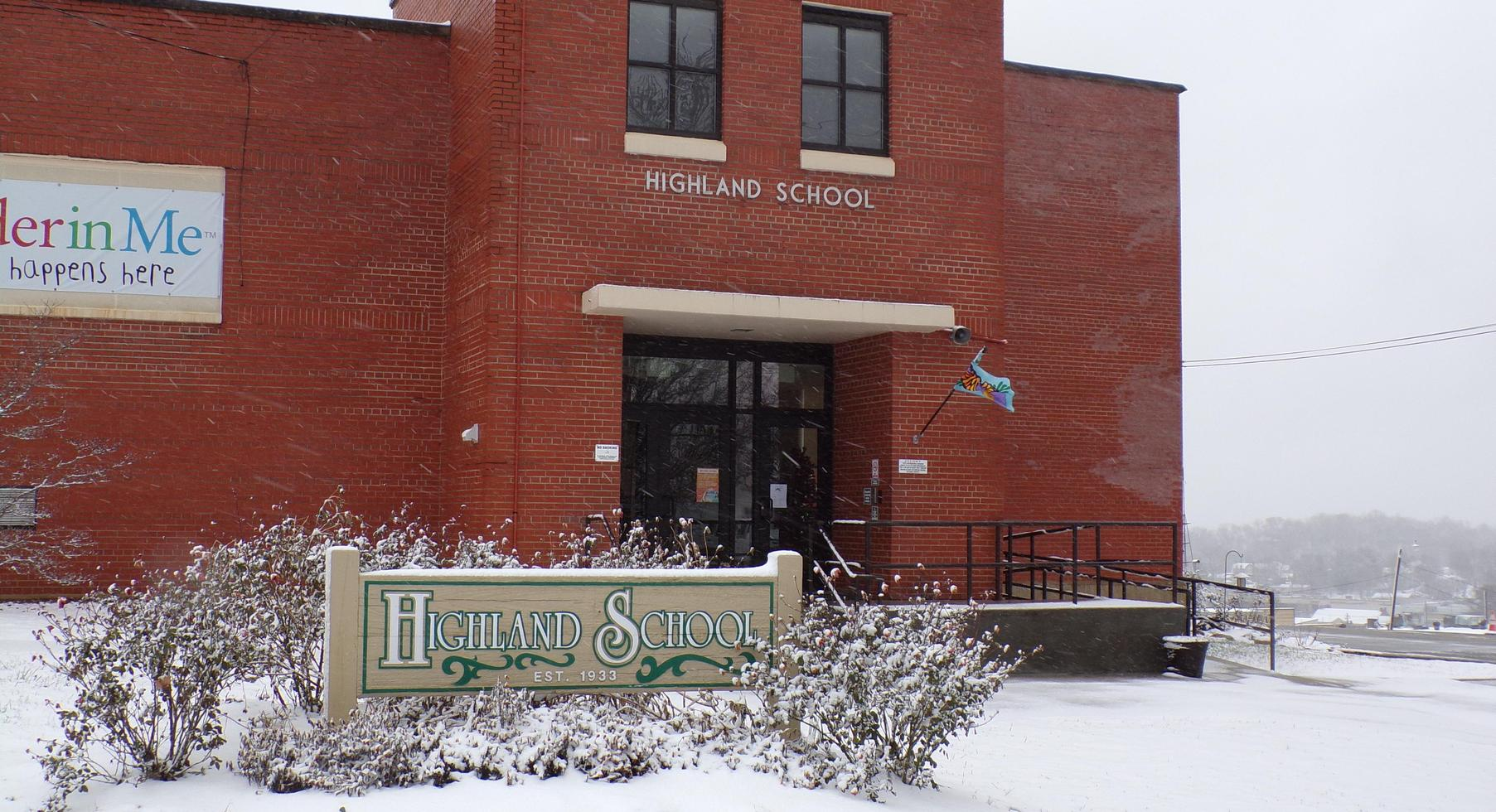 Highland in the snow!