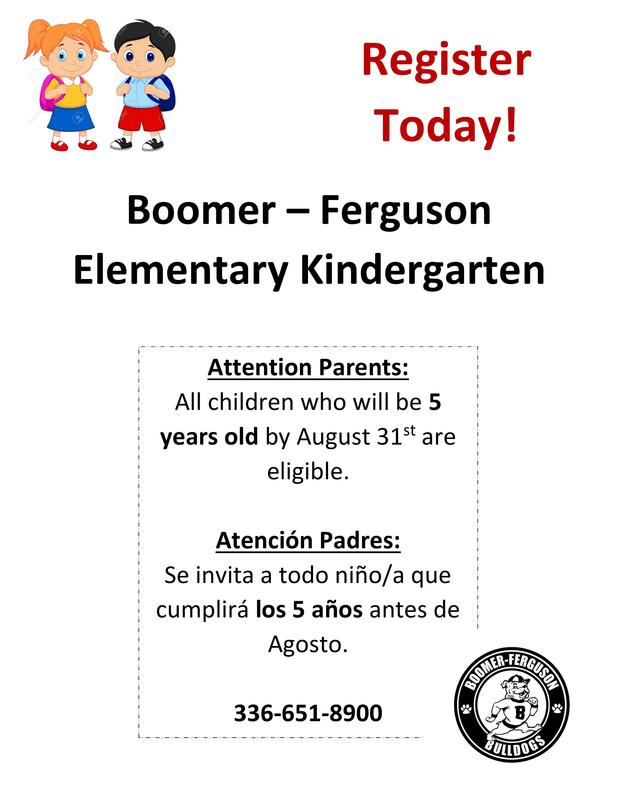 Kindergarten Registration information 2021-2022