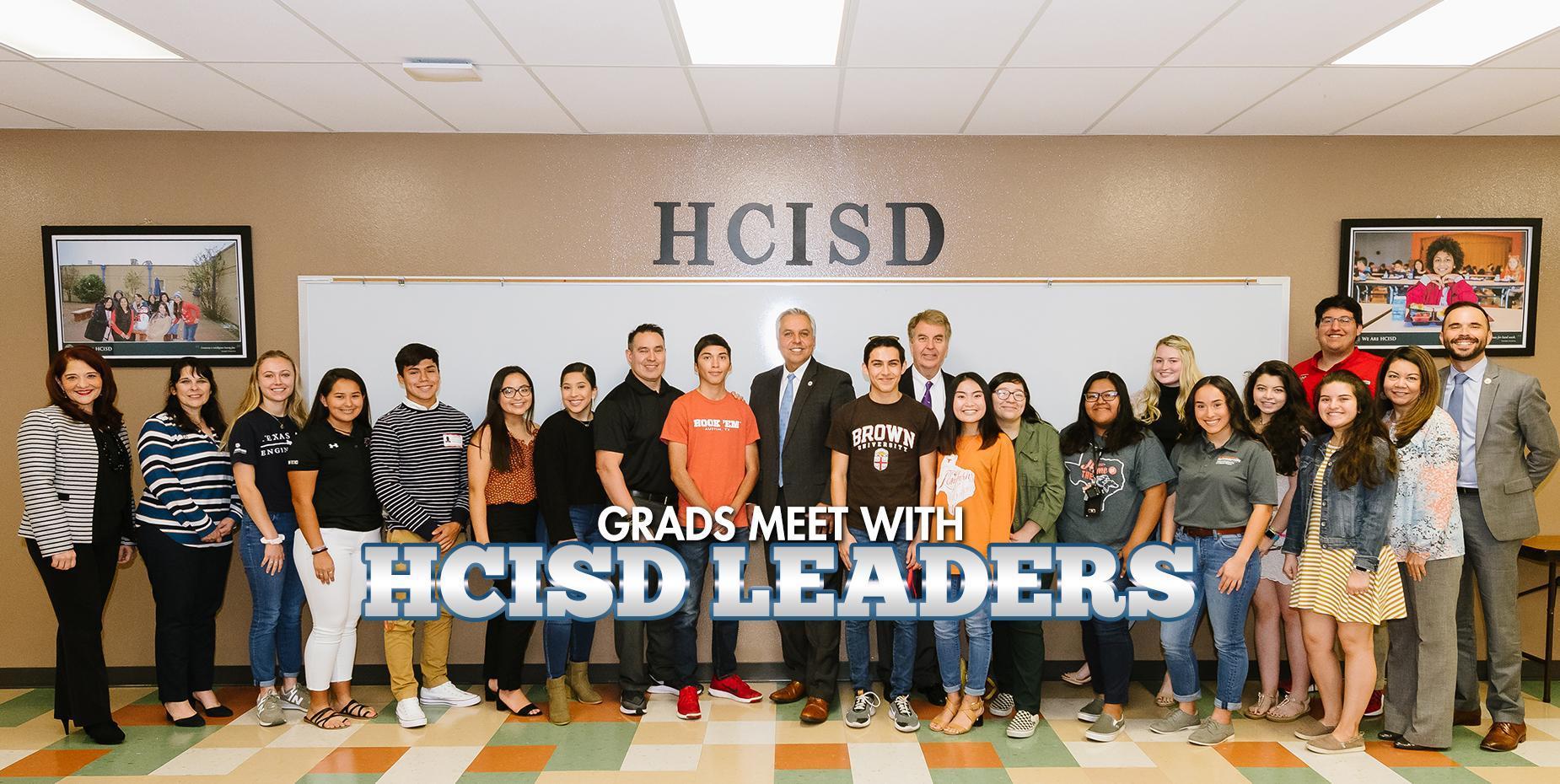 Grads meet with HCISD leaders