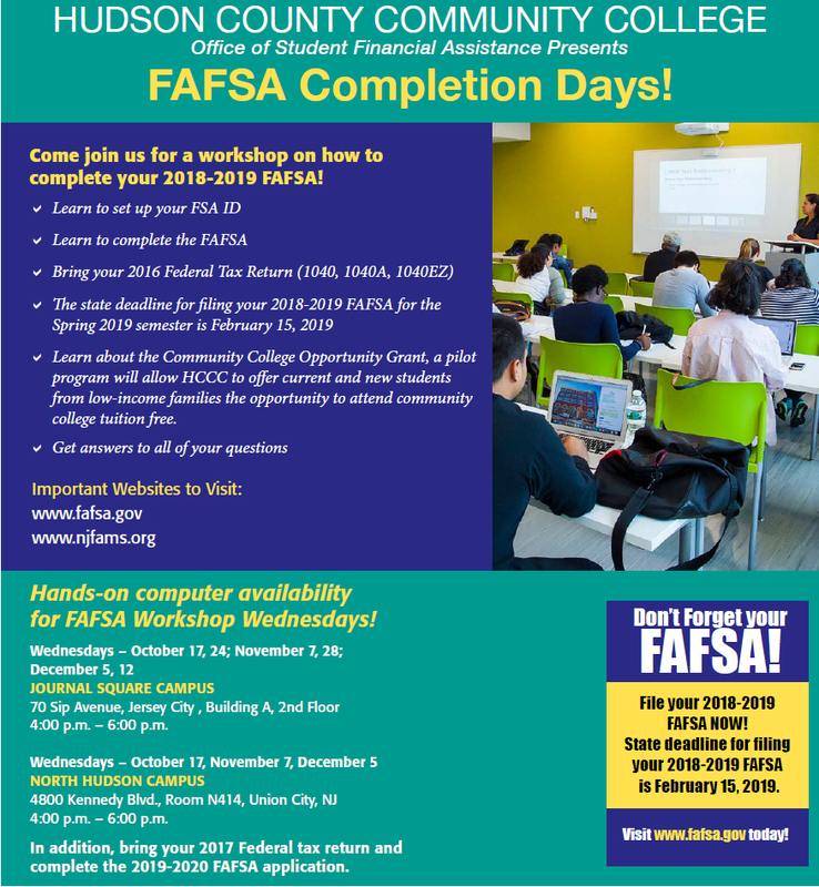 HCCC FAFSA Completion Days! Thumbnail Image