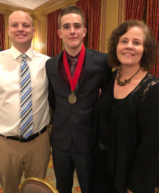 Brewer High School senior Scott Ellis received the Leo C. Benavides Award, awarded to one high school student from each Tarrant County high school for outstanding volunteerism and servant leadership at school and in the community.