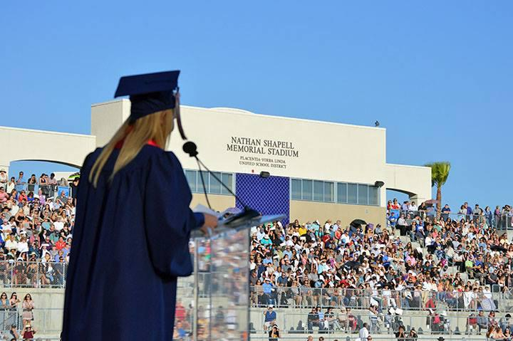 A speaker during graduation