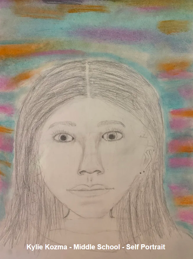 Kylie Kozma - Middle School - Self Portrait