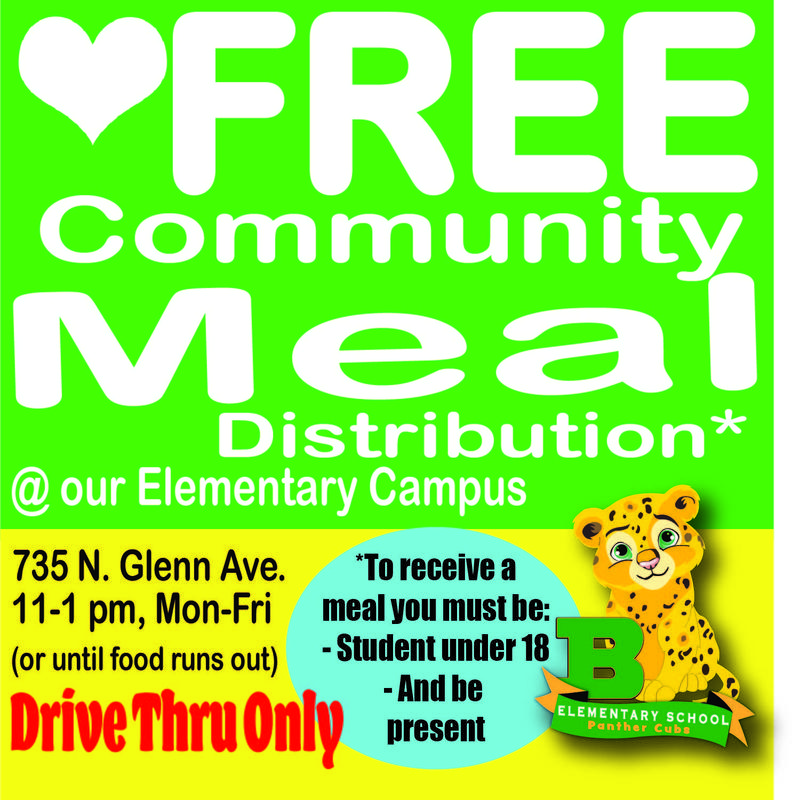 FREE Community Meal Distribution @ Elementary Campus! Featured Photo