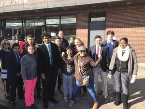 Group photo outside POTS