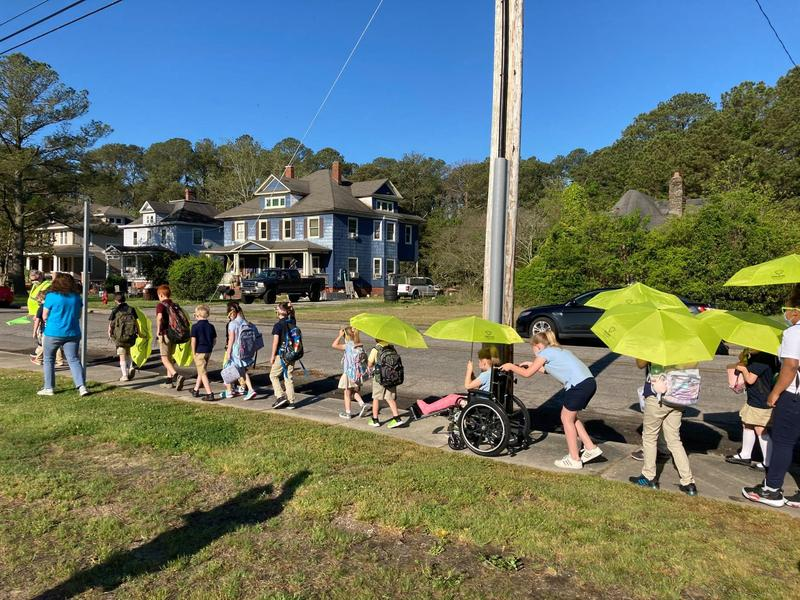 Woodson Elementary Hosts Walk-to-School Event Featured Photo
