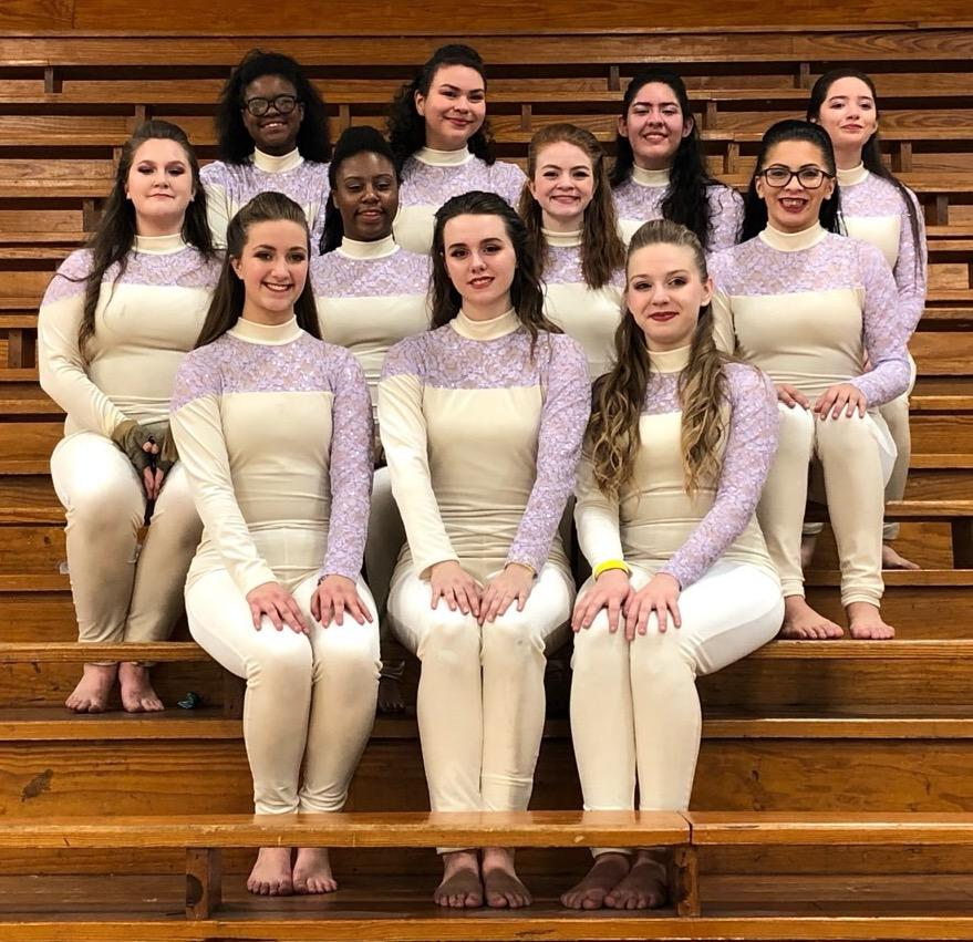 Varsity Guard members are: Makayla Patino, Sydney Schultz, Keara Mann, Megan Powell, Zoe Jackson, Autumn Yandell, Bethnie Boggs, Yasmin Legan, Valeria Aguilar, Itzel Melesio and Maddie Munoz.