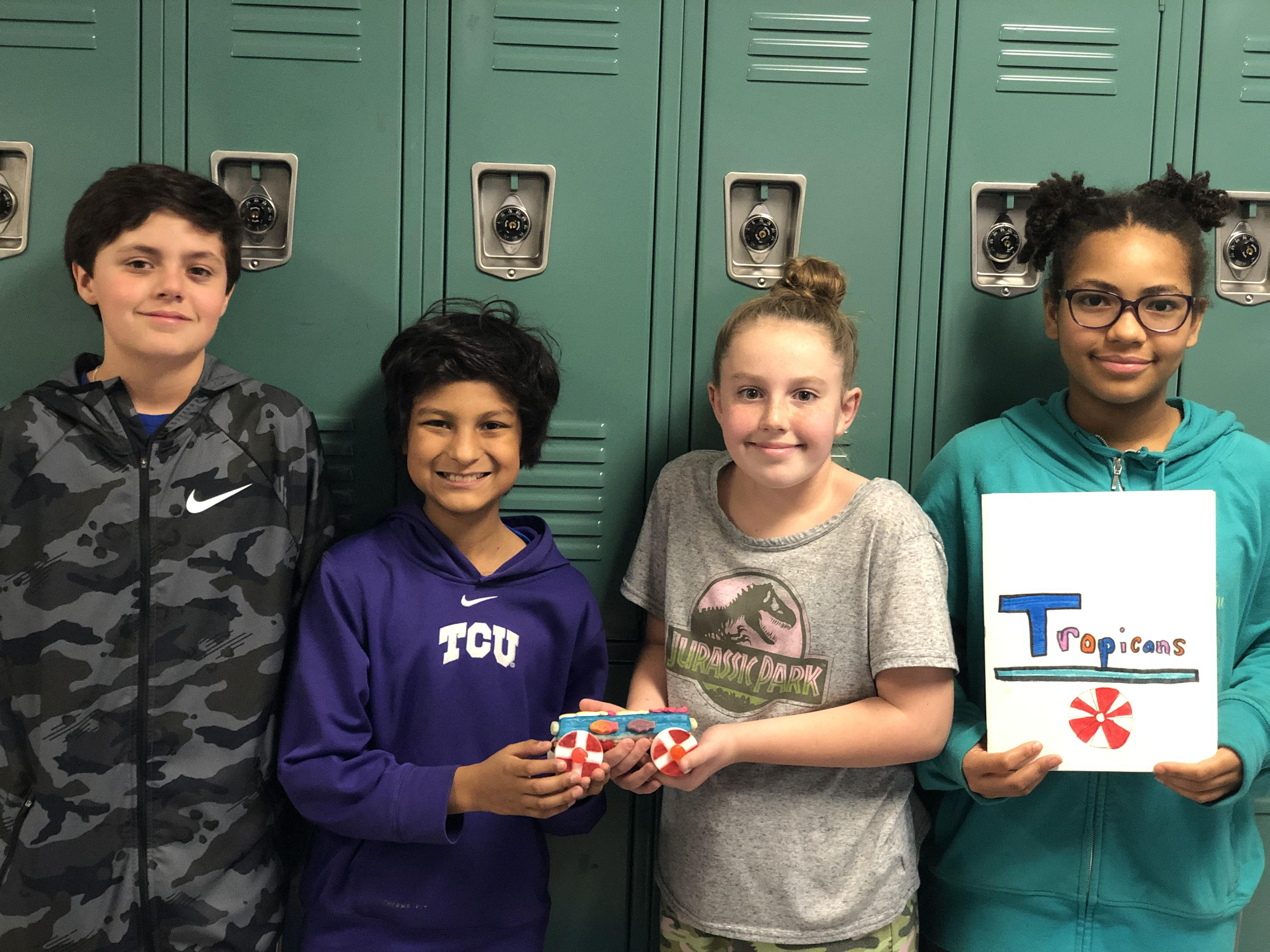Tannahill's Tropicans team of Ella Newsome, Brennan Maitlin, Caden Cato andMiguel Carrera won First Place Overall.