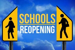school reopening graphic