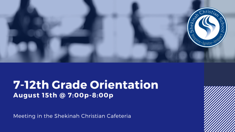 7-12th Grade Orientation | August 15th @ 7-8p Thumbnail Image