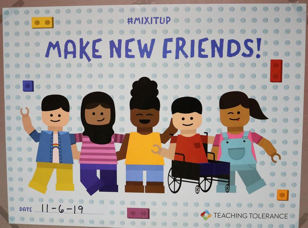Photo of Mix It Up Day poster.
