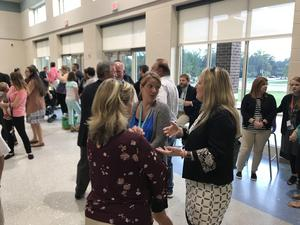 Families, educators, business and community leaders, school board members and other elected officials turned out for Riverbank Elementary's dedication Tuesday.