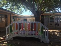 Peace Bridges for Conflict Resolution in our outdoor classroom.