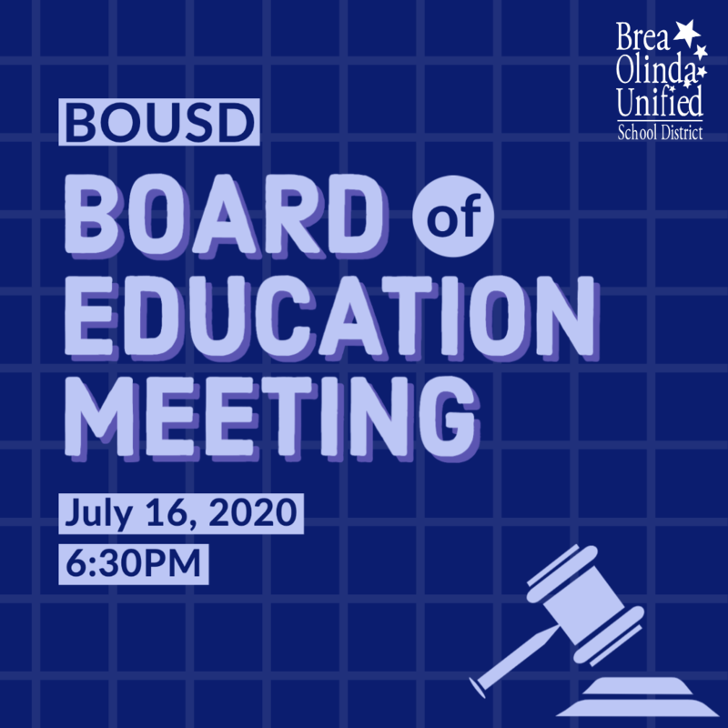 Board of Education Meeting this Week