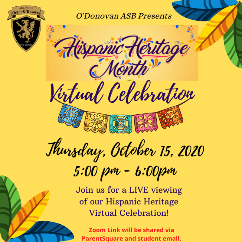 Join us for our Virtual Assembly in Celebration of Hispanic Heritage Month Thumbnail Image