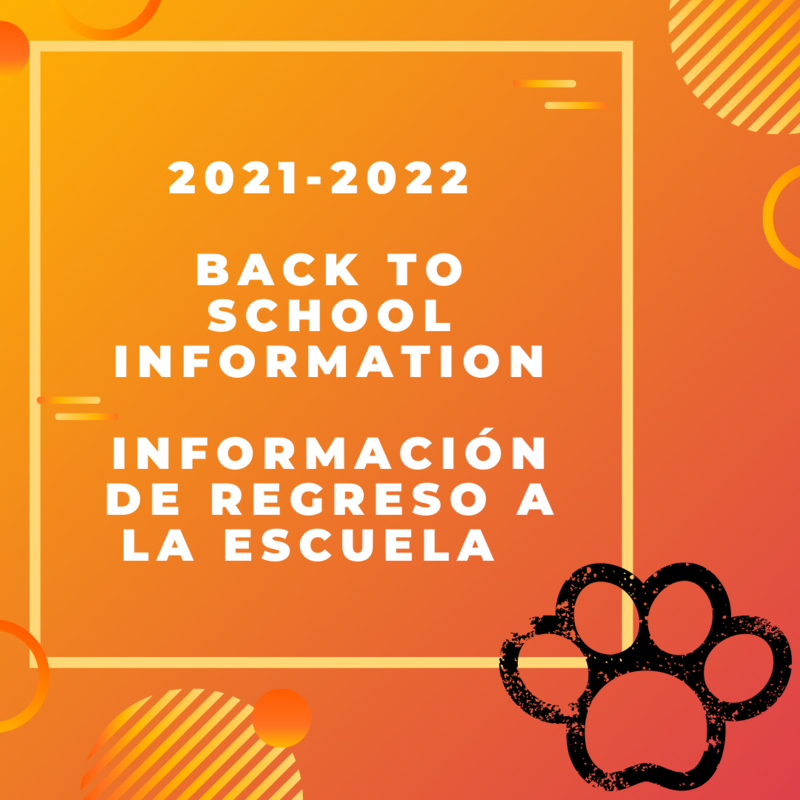2021 - 2022 Back to School Information Featured Photo