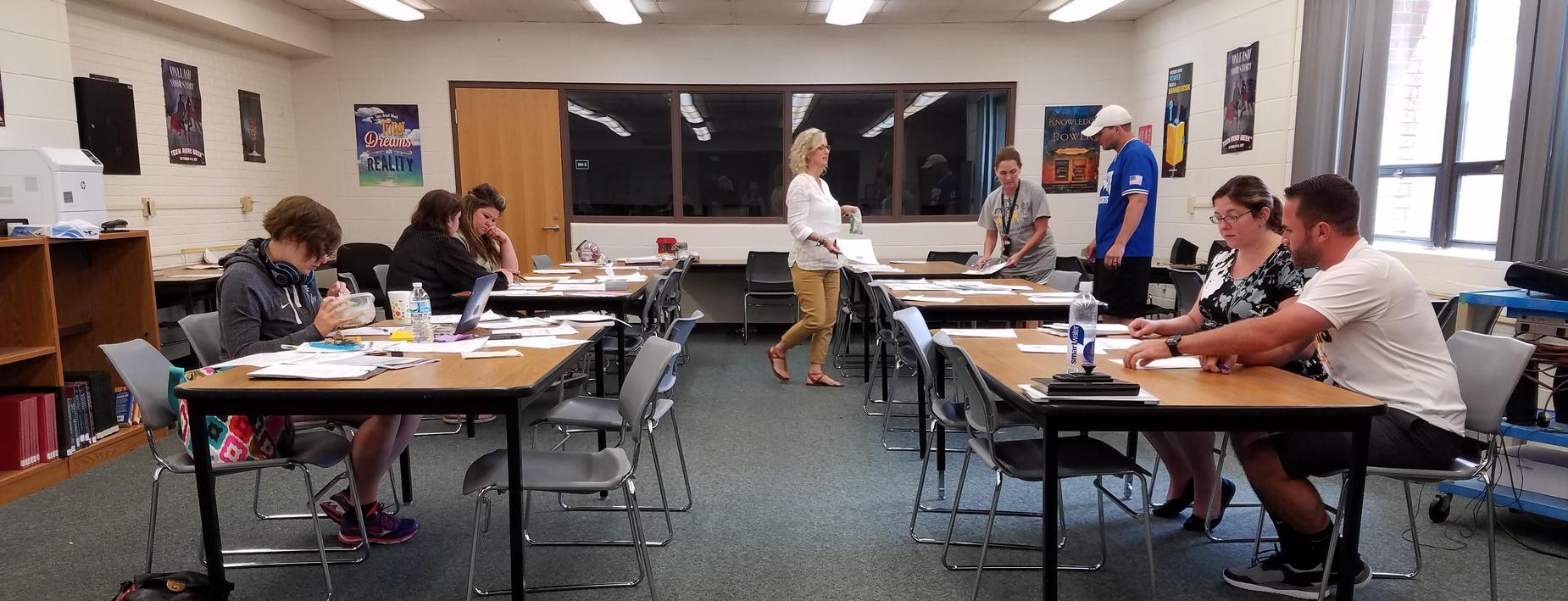 Teachers working over the summer