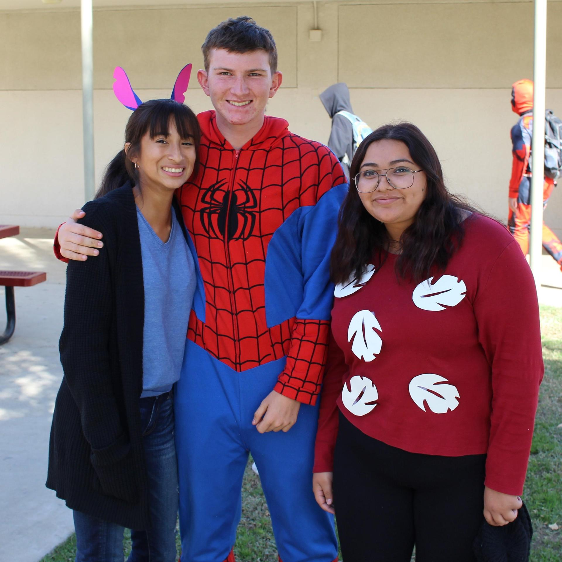 Sabrina Davila as Stitch, Evan Sotelo as Spiderman, Naomi Hernandez as Lilo