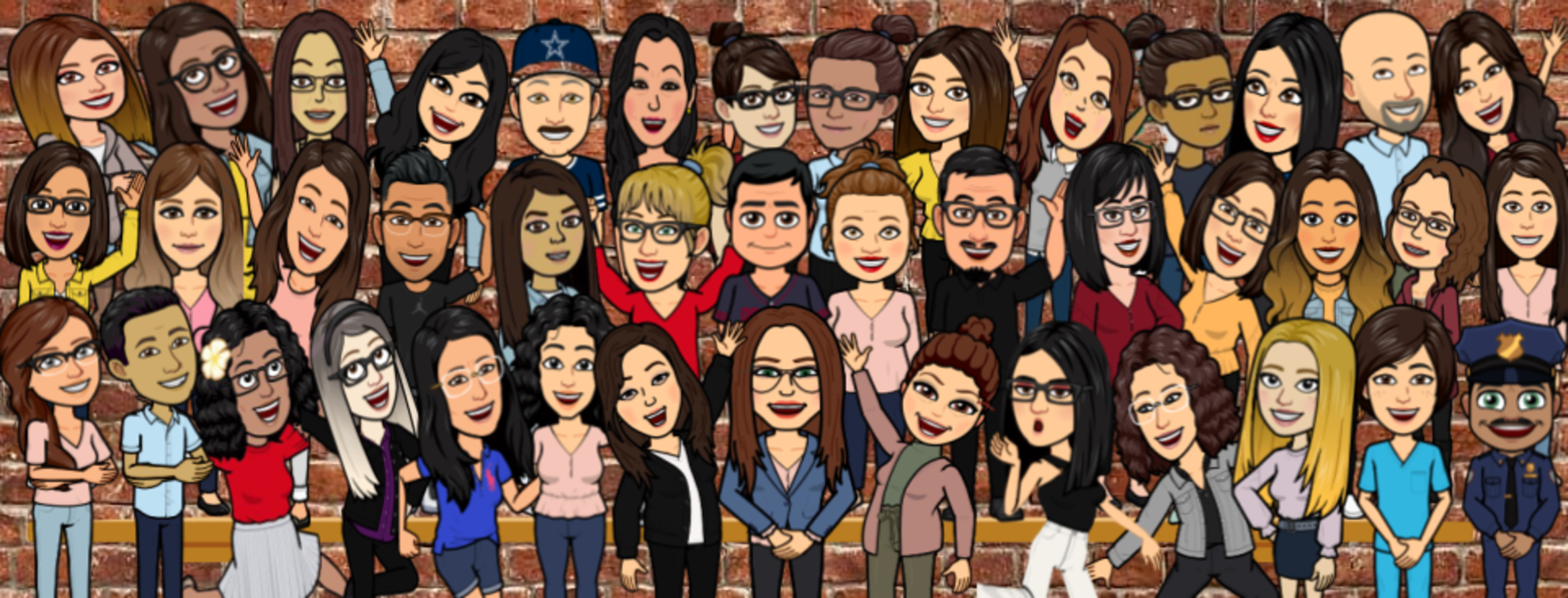 Austin Staff Members in Bitmoji Format