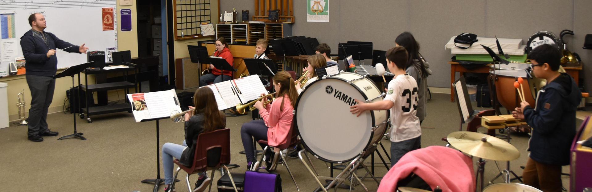Junior High Band students