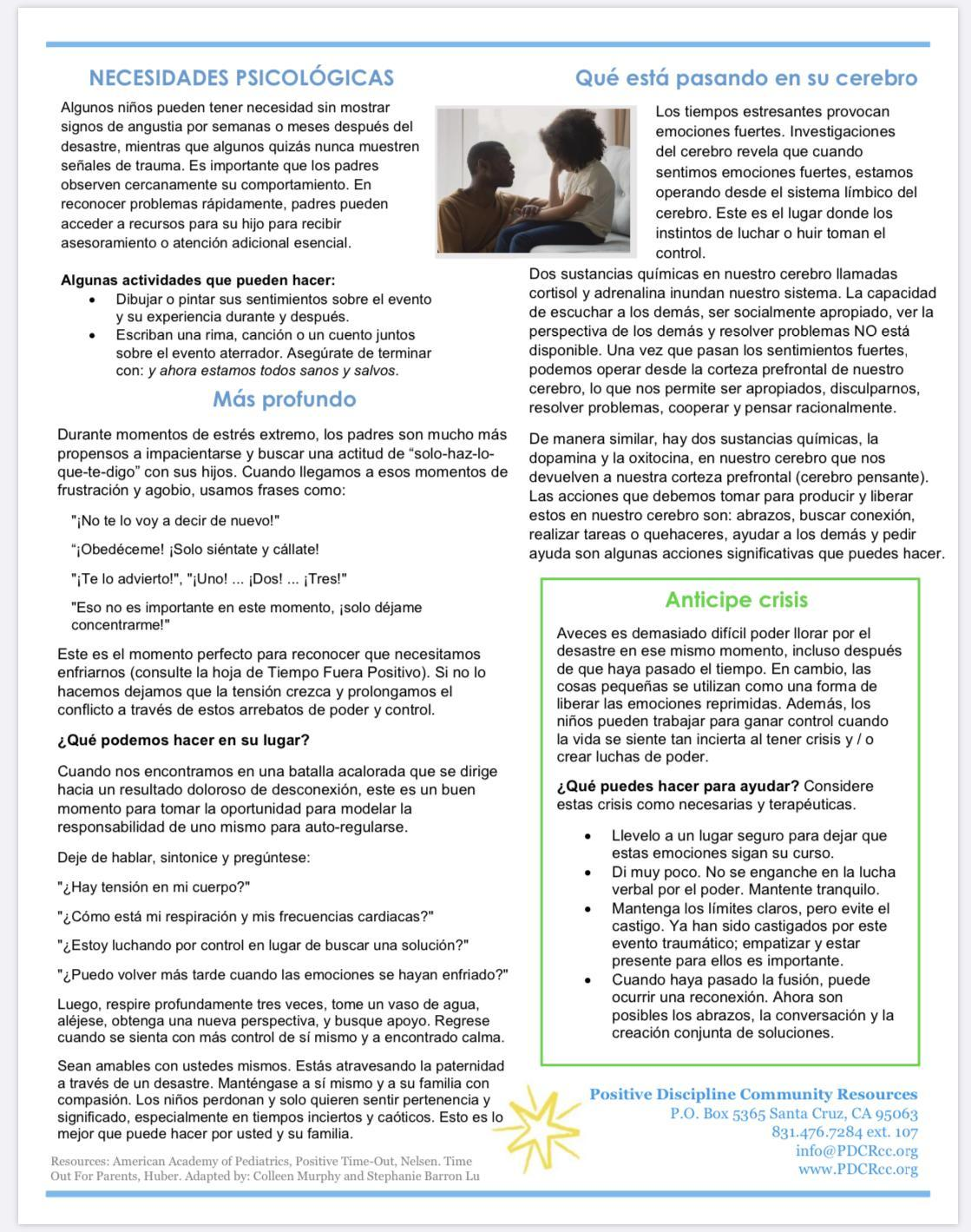 Navigating Disasters page 2 (Spanish)