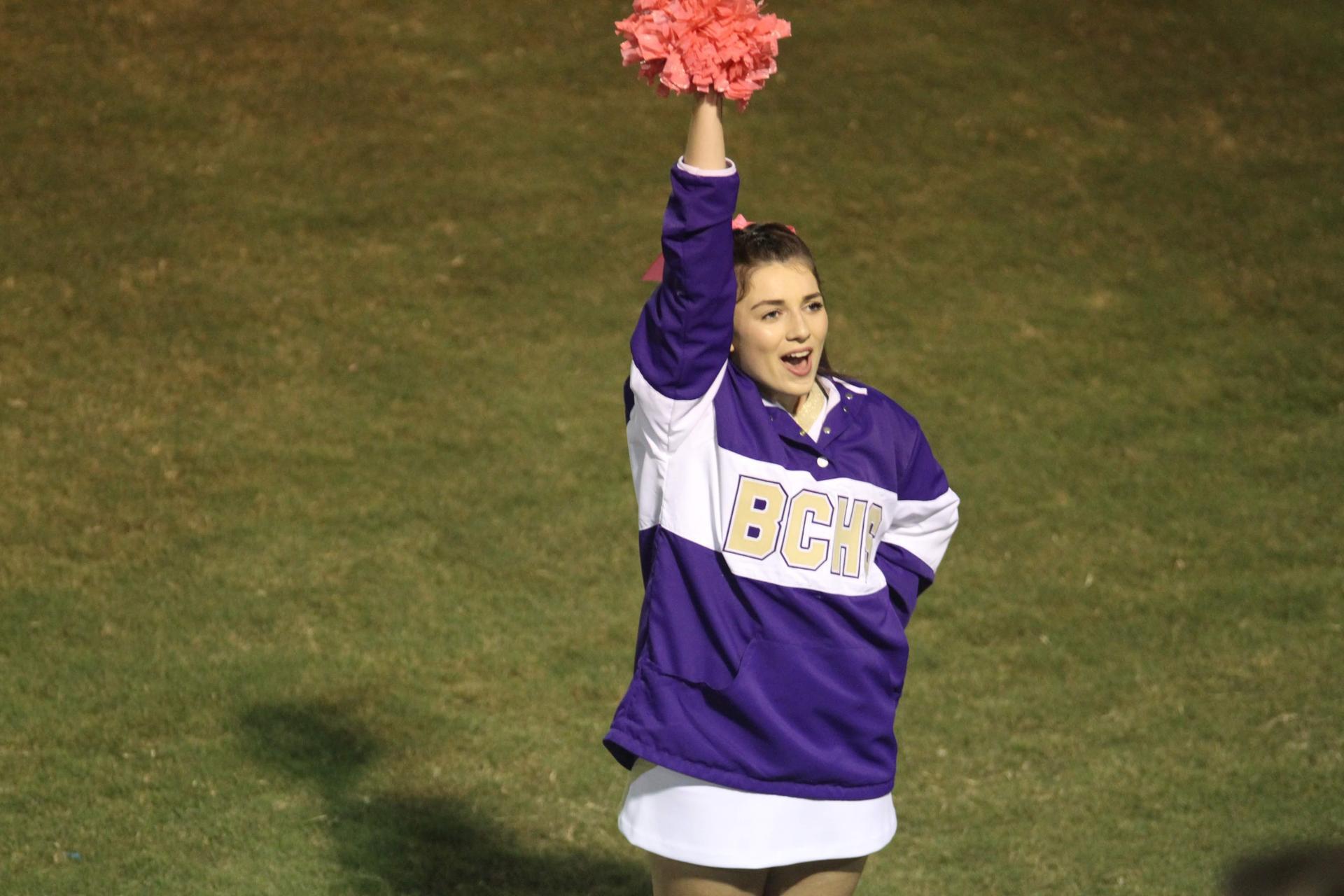 Cheer action shot