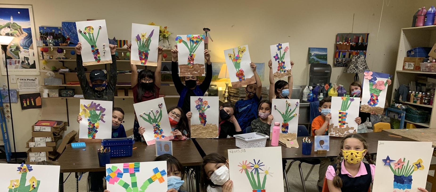 Student made Mother's Day Art work!