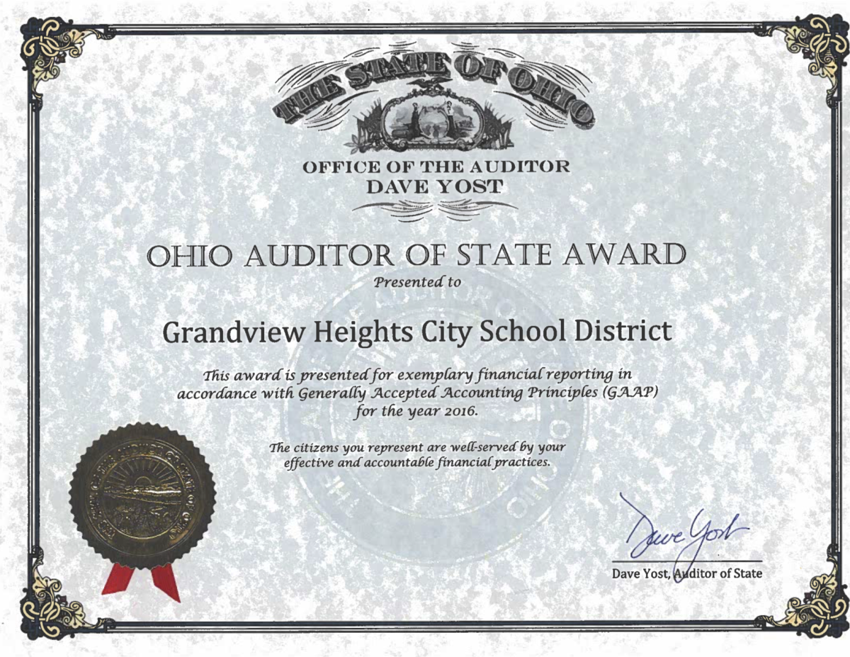 Auditor of State Award 2016