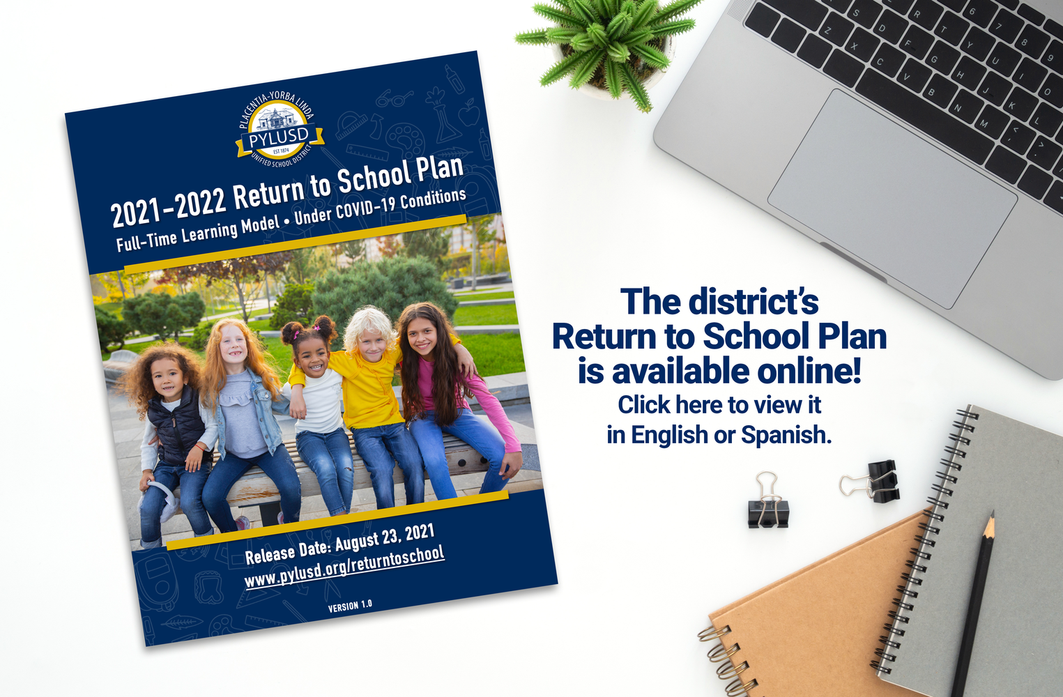 Return to School Plan is available online.