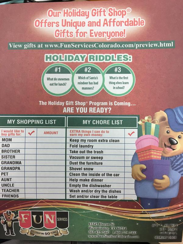 Santa's Workshop Flier