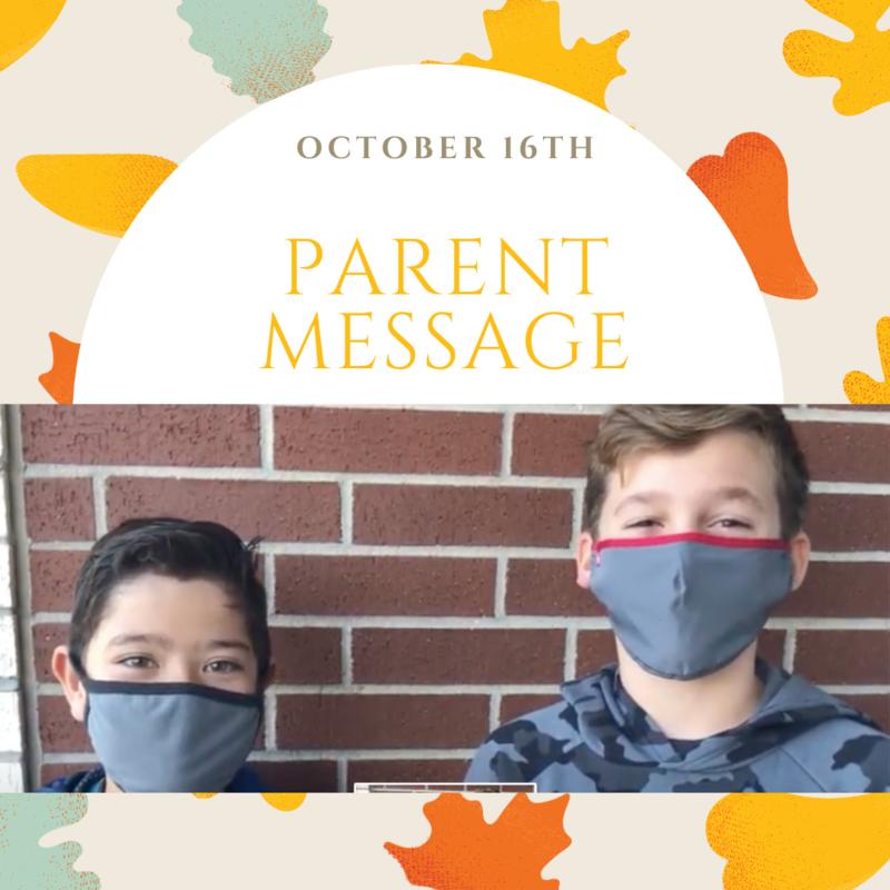 SCIS Parent Message: October 16th, 2020 Featured Photo