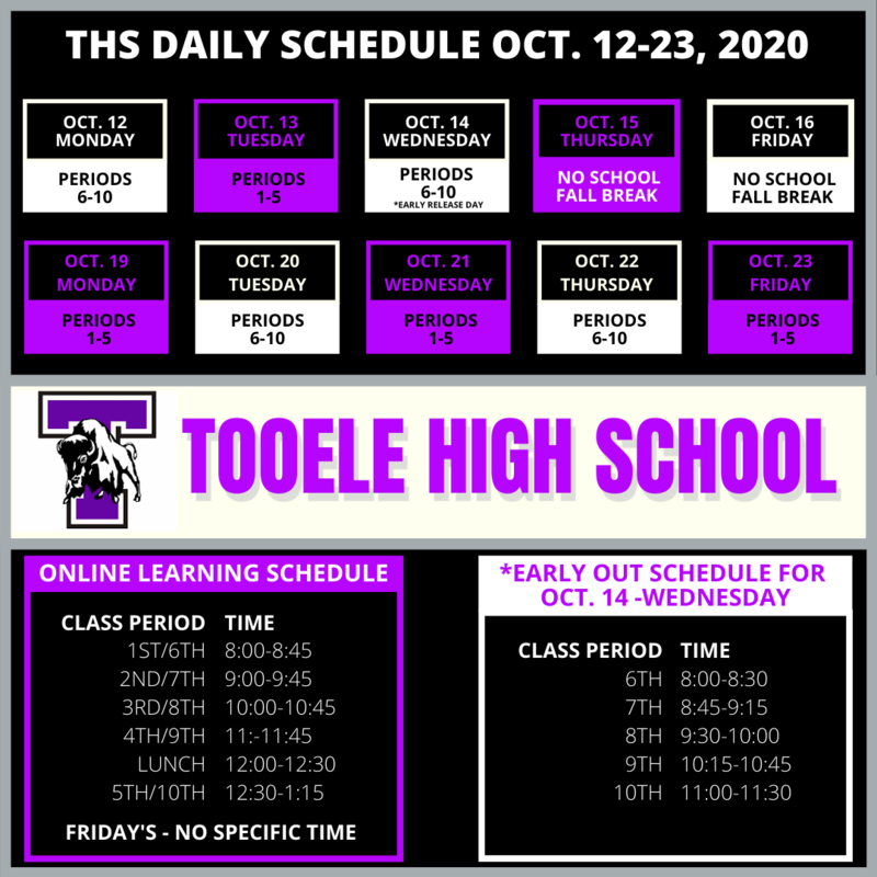 THS schedule for remote learning Oct. 12-26