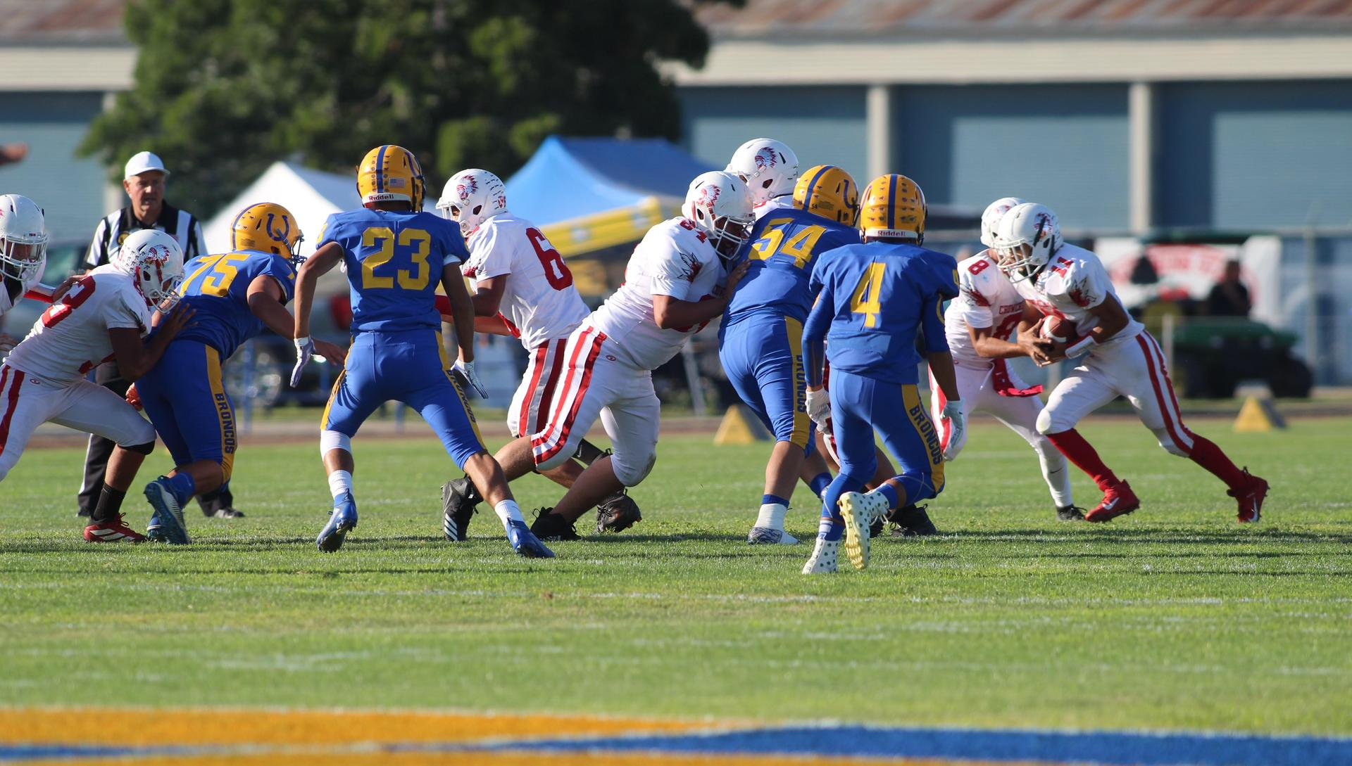 Junior Varsity Football Playing against Dos Palos