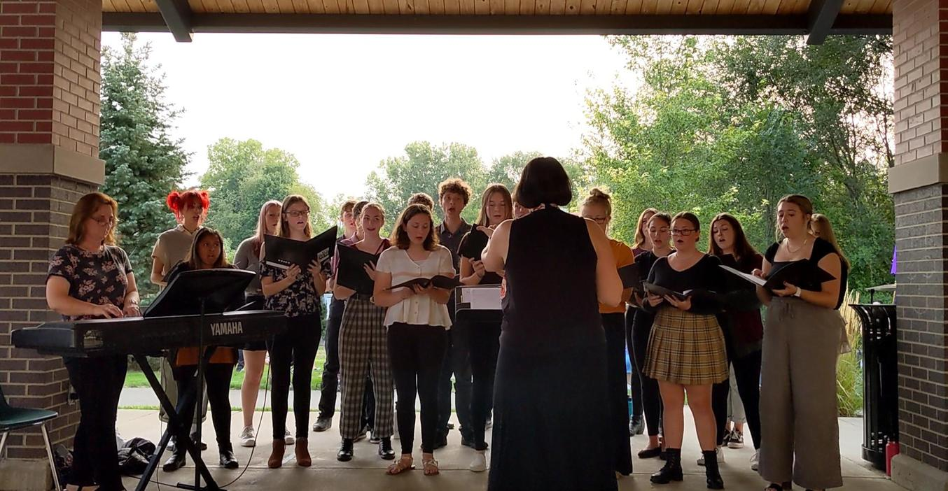 TKHS Honors Choir performs at the 9-11 ceremony.