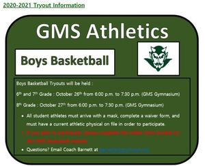 GMS boys basketball flyer