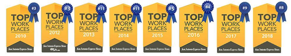 Top Work place banners 2010-2018