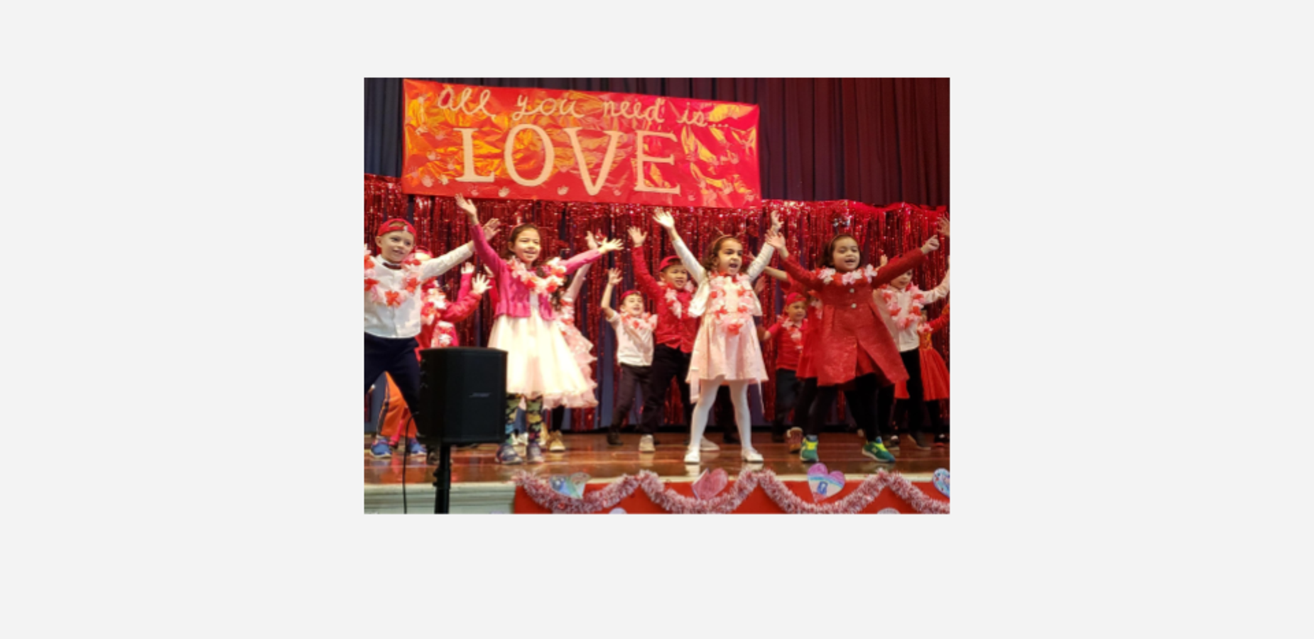 First grade, all you need is love, dance show.