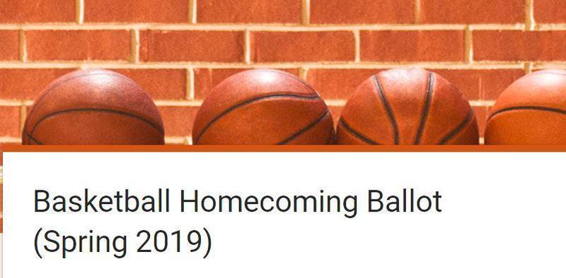 Homecoming ballot