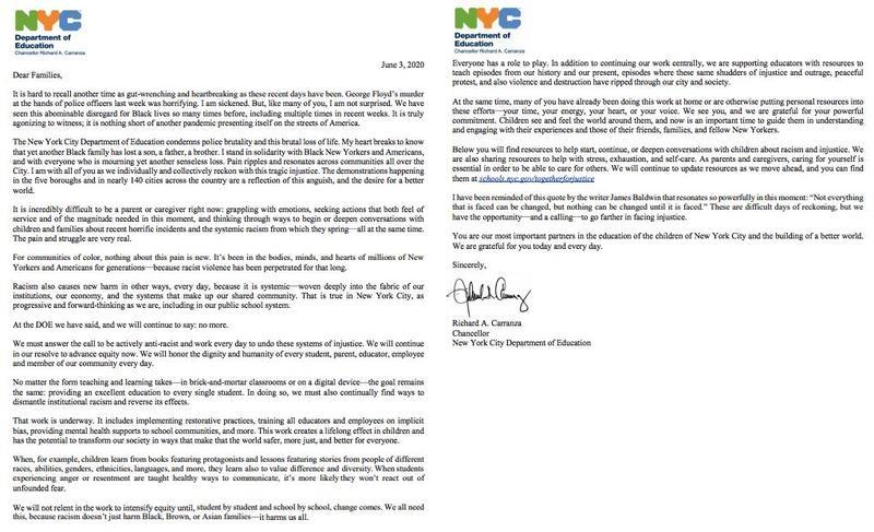 Chancellor Letter