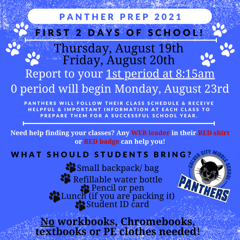 Panther Prep (First 2 days of School) Thumbnail Image