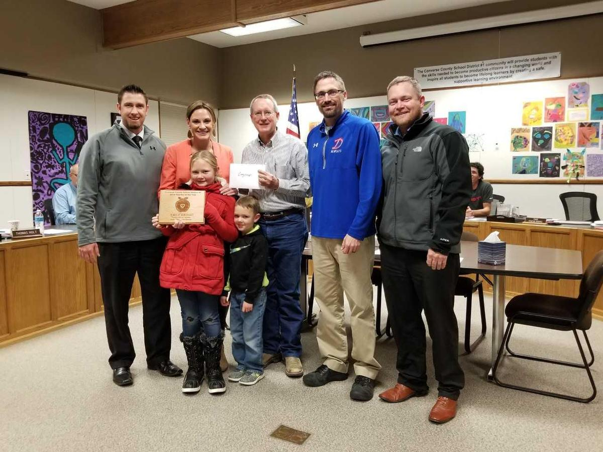 Haught Family Honored by Principals Mackey and Johnson