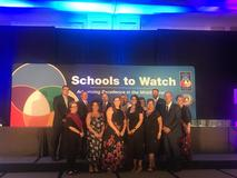 Lake Center receiving the Schools to Watch award in Washington, DC.