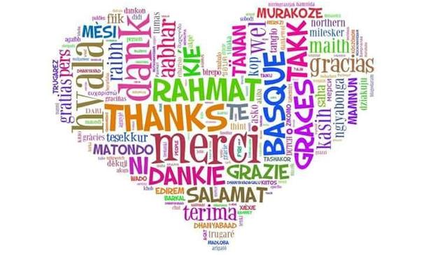 various languages of thank you billboard