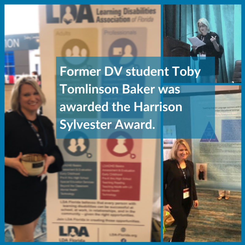 DV Alumna Toby Tomlinson Baker received the Harrison Sylvester Award