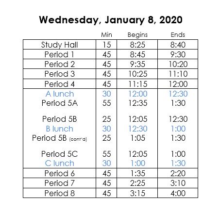 brewer schedule for 2020