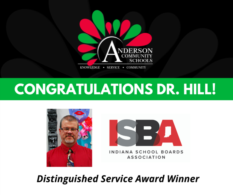 Dr. Patrick Hill receives Distinguished Service Award from the Indiana School Boards Association (ISBA) Thumbnail Image