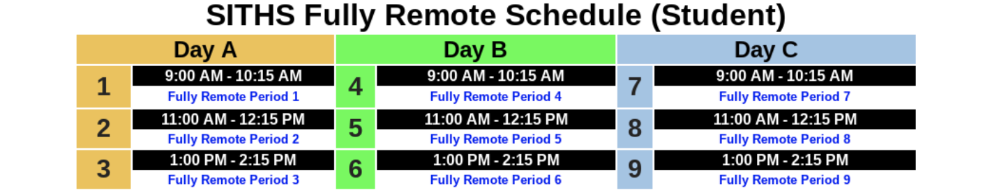 Fully Remote Schedule